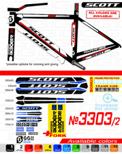 SCOTT 3303 Bike Frame STICKERS Bicycle Stickers stickers on the frame and
