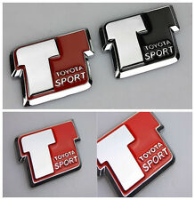 Red T Sport mejor Aleación Metal Car Body Lado Trasero Tapa del tronco insignia emblema de la etiqueta engomada