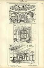 1886, Constitutional Club, Billiard Room, Inner Hall, Smoke Room