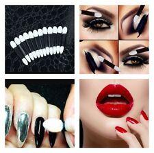 50 Disposable Makeup Applicator Double End Eyeshadow Lipstick Concealer Wand UK