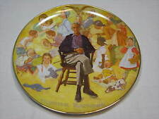 Norman Rockwell Remembered Plate Viletta Museum China Artist Collage Memories 79