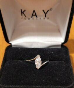 1.00ctw Kay Jewelers Engagement Ring 14k White Gold Over .925 Sterling Silver
