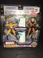 Marvel Legends Face-Off Arch-Enemies Wolverine vs Sabretooth 2 Pack Toybiz