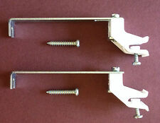 Valance Rail Support Brackets x 2 Suitable for Monorail Decorail - With Screws