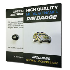 Police Car High Quality Metal & Enamel Pin Badge with Secure Locking Back