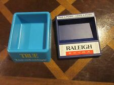 """Cigarettes, Promotional, Lot of 2 Coin Holders, """"Raleigh Extra"""" and """"True"""""""
