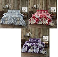 Luxury Flannel Laura STAG Duvet Set 100% Brushed Cotton Duvet/Quilt Cover Set