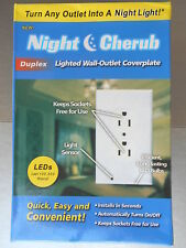 Pro Duplex Night Cherub Light Sensor LED Plug Cover Wall Outlet Coverplate