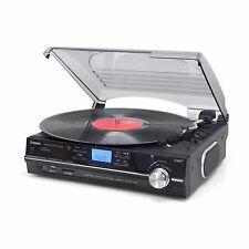 Turntable 3-Speed Record Player With USB/SD Recording & Built In Speakers ST929