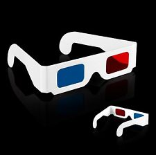 20 pcs Red-blue Anaglyph 3D DimensionaL Paper 3D Plastic Glasses Universal Type