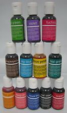 Chefmaster Liqua gel 12 Piece Set Food Coloring 3/4oz bottles cake supplies NEW