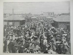 Victorian Photo Illustration (1897) Blackpool Pier - South Africa/Karroo Tennis