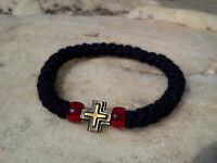 1 pc Orthodox russian greek chotki komboskini prayer rope 33knot bracelet wool