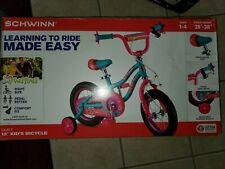 Schwinn Duet 12 inch Girls Bike Kids Bicycle Pink with Training Wheels 2-4 yr