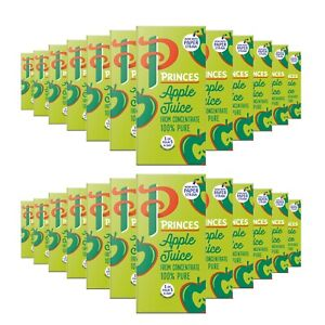 Princes Apple Juice 24 x 200ml From Concentrate 100% Pure Carton Box Drink