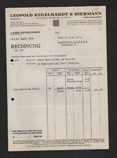 LAHR-DINGLINGEN, Rechnung 1938, Leopold Engelhardt & Biermann