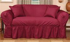 NEW! Burgundy Shimmer CHAIR Slipcover Living Room