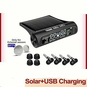 E-ACE Solar Power TPMS Car Tire Pressure Alarm Monitor System Auto Security
