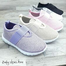 Toddler Girls Glitter Sneakers Tennis Shoes Size 7-12 Light weight