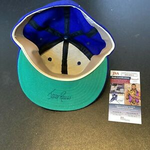 Jerry Reuss Signed 1970's Los Angeles Dodgers Game Model Baseball Hat JSA COA