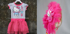 70% OFF! HELLO KITTY GIRLS TIERED TUTU DRESS + HEADBAND 6X/6-7 YRS BNWT US$20.99