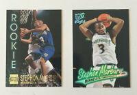 Stephon Marbury Topps Stadium Club R6 & Fleer Ultra 66 Rookie 2 Card Lot. Nice!