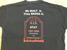 R.I.P AT&T Tombstone T-SHIRT Men XL Union Local We Built It They Broke Funny RIP