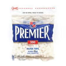 Premier Regular Cigarette Filter Plug Tips 18mm, Bag of 200 Top Rated Usa Seller