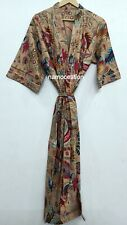 Cotton Mukut Robe Hippie Long Kimono Bath Robe Nightwear Gown Dress Beach Robe