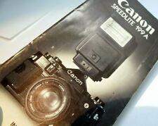 Canon Speedlite 199A  flash Instruction Guide Manual English En E