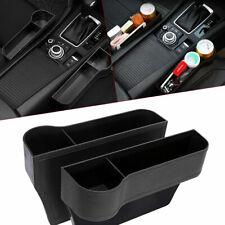2x Car Seat Gap Catcher Organiser Storage Box Pocket w/ Cup Holder Side Black