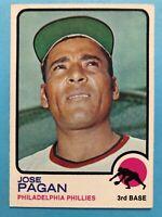 1973 Topps Jose Pagan Card #659 Philadelphia Phillies