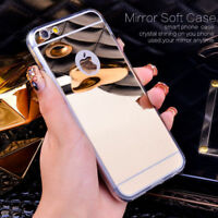 LUXURY Slim MIRROR Style Case Soft TPU Silicone GEL Cover For Apple IPHONE 6 7 8