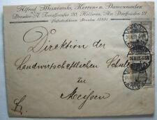 Inflation 10000 Mark MeF Periode 24.8.23-1.9.23 Dresden Meißen Wisnemski Brief