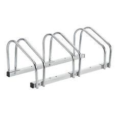 [neu.haus] Soporte para 3 bicicletas de suelo acero galvanizado aparcabicicletas