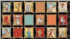 "23"" Fabric Panel - Loralie Designs Whoa Girl Cowgirl Western Cartoon Blocks"