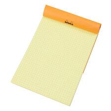 Rhodia A5 5/5 Plaza DE REJILLA AMARILLO 80 hojas de papel Bloc de Notas Libro De Diseño Arte matemáticas