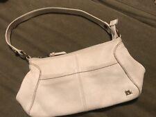 THE SAK Ivory/White Pebbled Leather Hobo Handbag Shoulder Purse