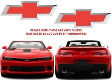 Colormatched Red Hot Vinyl Bowtie Overlays For 2015-2017 Camaro New Free Ship