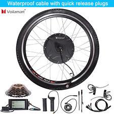 48V 1500W Rear Wheel Electric Bicycle Motor Conversion Kit E Bike Cycling w/ LCD