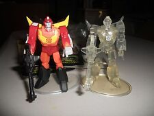 Takara Transformers SCF Lot Act 2 Hot Rod, Rodimus regular and clear chase