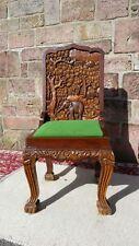 !Schnäppchen! Indischer Königsstuhl Sitz Sessel handgeschnitzt massiv Thron VW
