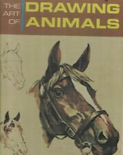 The Art of Drawing Animals Vtg 1965 Hardcover A Grumbacher Library Book