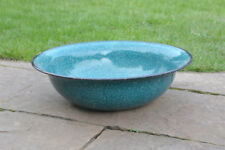 old white enameled washing bowl bath enamel  40 cm FREE POSTAGE