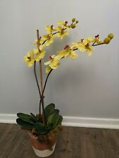Orchid Artificial Flowers Decoration With Clay Pot