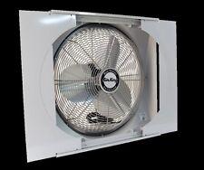 "Window Mounted Reversible Whole House Fan 20"" Plug-In 3-Speed Intake & Exhaust"
