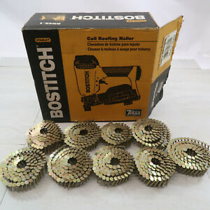 Bostitch RN46-1 Coil Roofing Nailer New Open Box with few nail coils