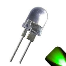 50 x LED 10mm Pure Green .5 Watt Super Bright High Power LEDs 0.5w half 1/2 Car