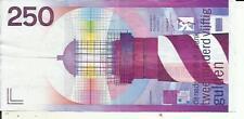 NETHERLANDS 250 GULDEN 1985  P 98. VF+ CONDITION. 4RW 19JUL