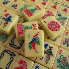 Olive Green Tiles, Vtg Mid-1960s, RDC Catalin Mahjong Set, Mah Jongg Bakelite